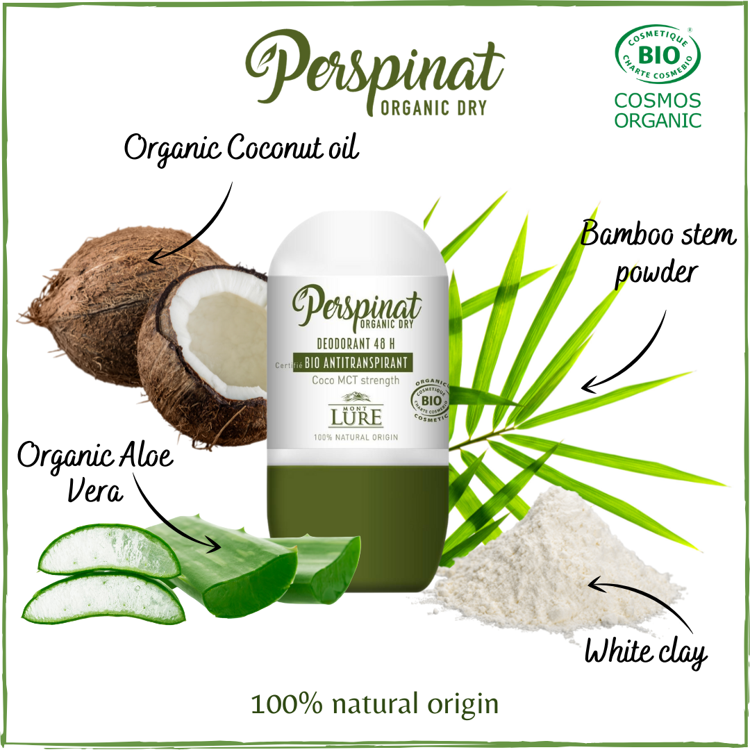 Perspinat Organic ingredients for 48h Antiperspirant Roll-On Deodorant